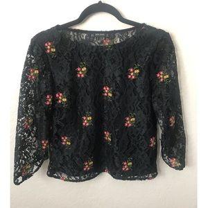 Zara Black 3/4 Sleeve
